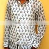 Cotton Hand Block Print Sort Kurta , Shirt from Jaipur