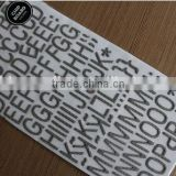 customized size&logo&design letter chipboard paper sticker/2015new product alphabet letter chipboard sticker