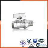 Nickle Plated Male&Female brass ball valve with union