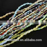AB Color Plated Imitation Jewellery Glass Crystal Beads Strings, Bicone, 6x4mm(EGLA-R070-M3)