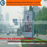prefab outdoor bus stop shelter advertising billboard light box/prefab metal bus stop shelter light box with stand
