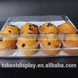 elegant clear acrylic cupcake display trays,acrylic food display tray,plexiglass food display tray manufacturer