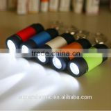 High quality portable small torch colorful cheap rechargeable mini led flashlight keychain