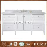 Hot Sale North America Market White Bathroom Style Solid Wood Bath Vanity