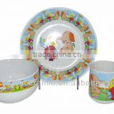 3pcs Ceramic Kids Breakfast sets