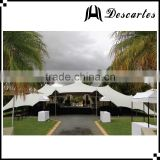 Elastic fabric white 300 person stretch tents, large wedding marquee tent for customized