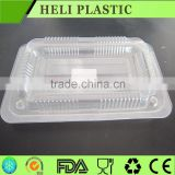 The 2015 new two compartments black plastic rectangular microwave fast food container with lid