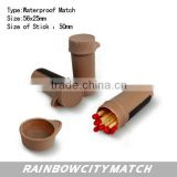 Plastic waterproof matches with colourful tube ,safety matches