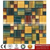 IMARK Mixed Color Hand Painting Crystal Glass Mosaic Tiles for Wall Backsplash Code IVG8-040