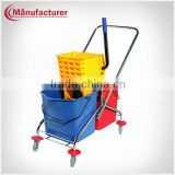 Best Selling Handle Wheelie Double Mop Buckets Wringer Cart,Cleaning Mop Bucket Trolley