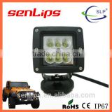 High quality 24W Square 6*4W Spot Flood Beam LED work light for off road vehicles tracks bus ATV