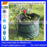 Hot sell 600D Polyester Pop Up Camp Trash Can Garden Bag garden Waste Bins product with handle