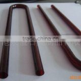 ruby quartz tube, dark red quartz glass tube