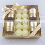 Romantic scented paraffin wax candle set as gift