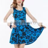 Good looking flower pattern high quality hot wholesale nice dresses for girls
