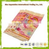 back seal plastic food bag for banana chips products