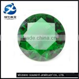 Round brilliant cut 20mm Emerald crystal glass synthetic diamond