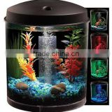 Hawkeye 2 Gallon Aquarium Starter Kit, Betta Fish Tank, Desktop, Aqua Led Light