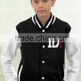 Kids black and white varsity jackets 2016
