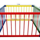 Wooden Baby Playpen Multicolour