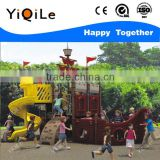 corsair shaped kindergarten playground equipment indoor novel children playground fence happy plastic parts tube slide