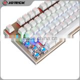 88 keys 7 colors led backlight metal cover mechanical gaming keyboard