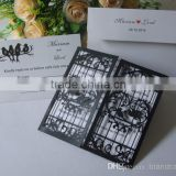 Open Love Door Hollow Heart With Loving Bird Laser Cut Black And White Wedding Invitations Card Laser Cut ML280