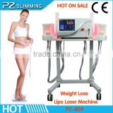 650nm 940nm double wavelength laser cellulite reduction body shape machine / abdomen fat reduction limbs fat removal machine