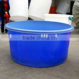 Wholesale hot selling aquarium flexible koi tank, plastic bucket for fish breeding,koi showing tank