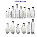 1.7 ounce to 16 ounce clear glass sauce bottles with lids Glass Spice Empty Bottle with Cover
