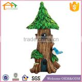 Factory Custom made best home decoration gift polyresin resin haunted fairy house