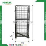 Foldable steel trolley cargo storage roll container