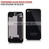 wholesale Tempered glass Back cover case for iphone 4s replacement back cover housing black
