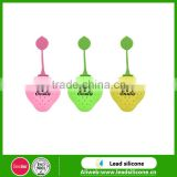 food grade eco-friendly fruit shape silicone tea infuser, strawberry shape silicone tea bag