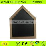 cheap house shaped wall mounted wooden blackboard with frame