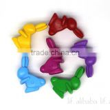 Novelty 3D Rabbit Crayons, Cute Rabbit Crayons,Candy Colors Crayons
