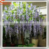 Factory price artificial wisteria tree colour decorative artificial wisteria