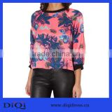 2014 fashion crochet name brand satin orchid ribbed sweater DQ153