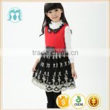 winter baby winter woolen clothing , girls party dresses woolen dress for winter