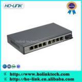 Gigabit Ethernet POE Media Converter 8 ports 10/100M Fiber Optic to rj45 POE Switch