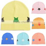 spring&summer korea style 100%cotton cute boys&girls colorful five star pattern baby hat