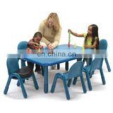 Preschool square table and chairs kids billiard table colorful kindergarten classroom furniture