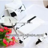 Elegant white Butterfly Knot wholesale guest book set wedding accessories