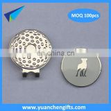 Round shape 1 inch metal golf ball marker wholesale with logo