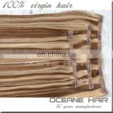Indian virgin remy hair cheap hair raw burmese hair one piece clip in human hair extensions