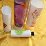 Stamping Printing 5 Layer Collapsible Empty Cosmetic Laminated Tube for Facial Clean Cream