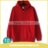 China factory wholesale sweatshirt men zipper hoodie fleece with customized logo and volor