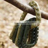 5PCS Plastic Carabiner D-Ring Key Chain Clip Hook Outdoor Camping Buckle Snap