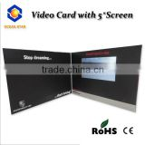 Newest design 2.4'' 2.8'' 4.3'' 5'' 7'' 101'' lcd video anniversary card/video greeting card /business video card