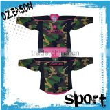 New design custom women/men dye sublimation camo hockey jerseys